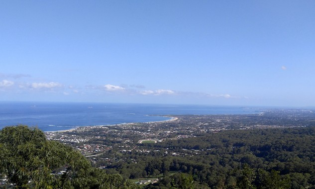 View from Bulli Tops lookout